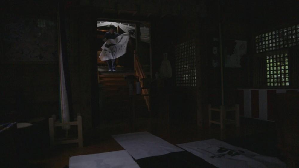 書道作品の制作について『神社でのお籠もり2』