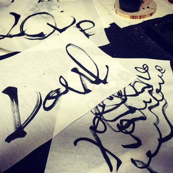 書家 現代芸術家 すぎたこうき 愛 love